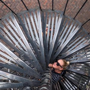 Fun photo on the stairs