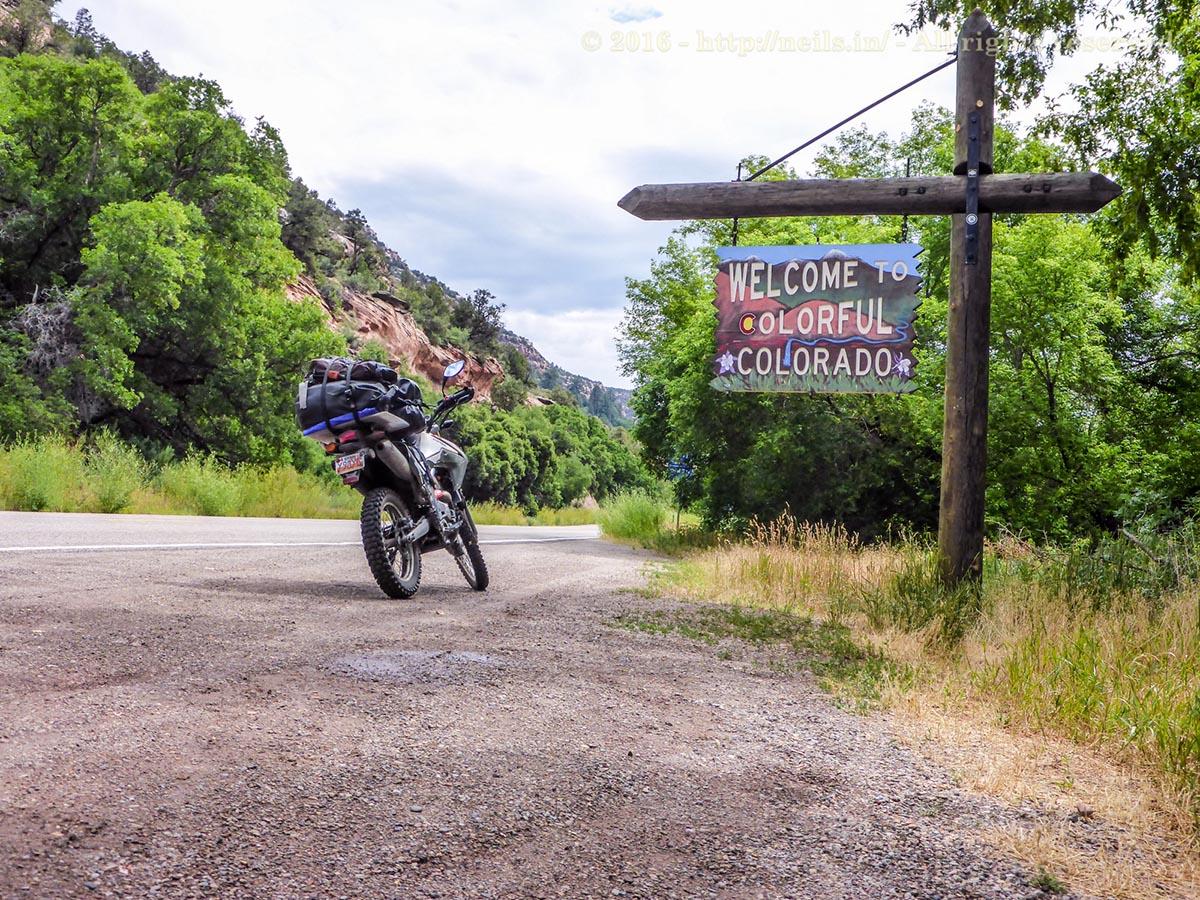 Crossing into Colorado