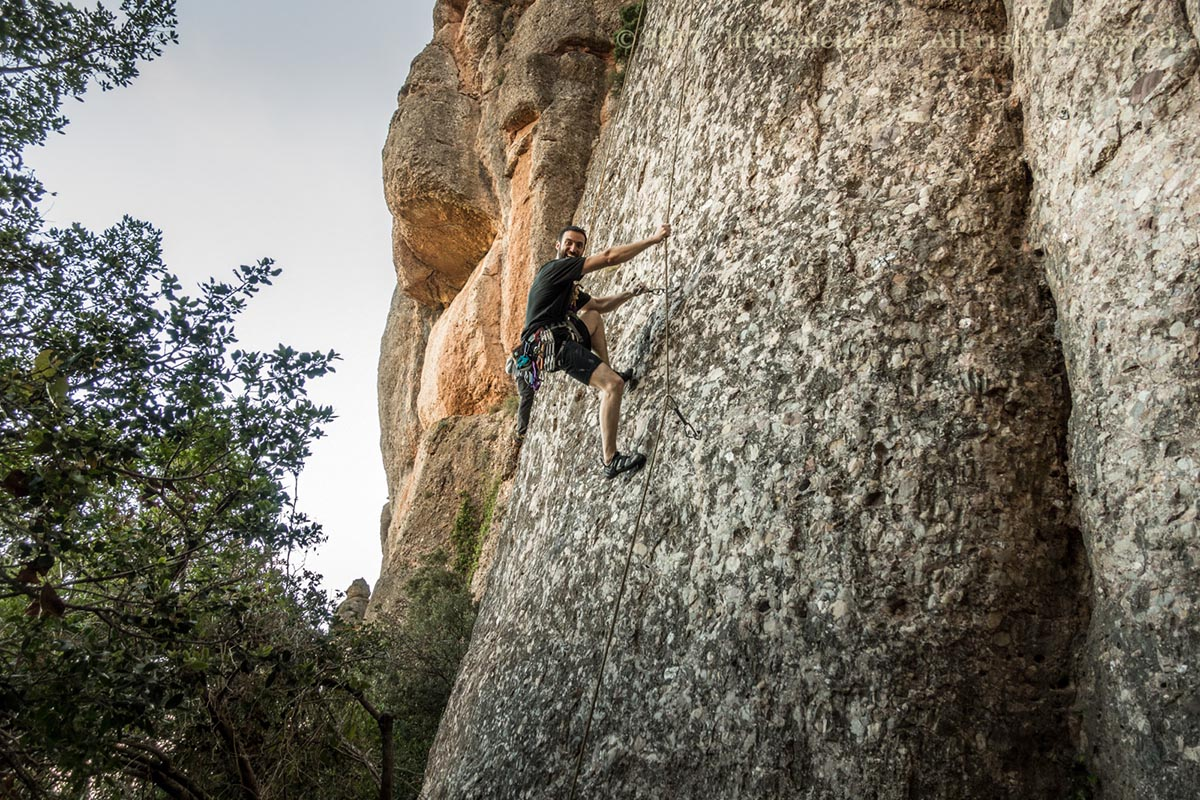Daniel cleaning the route