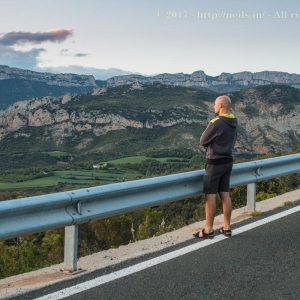 Michal taking in the beautiful landscape
