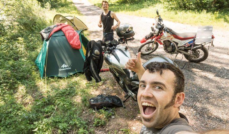 Camping in Sort yet again