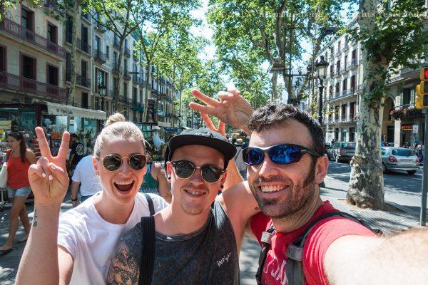 Tourists on La Rambla