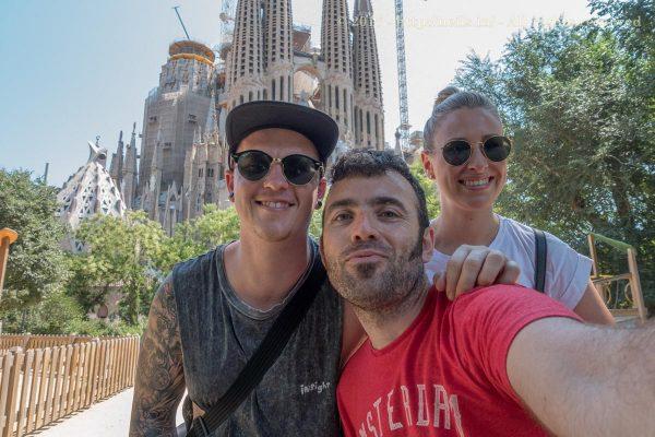 Outside La Sagrada Familia