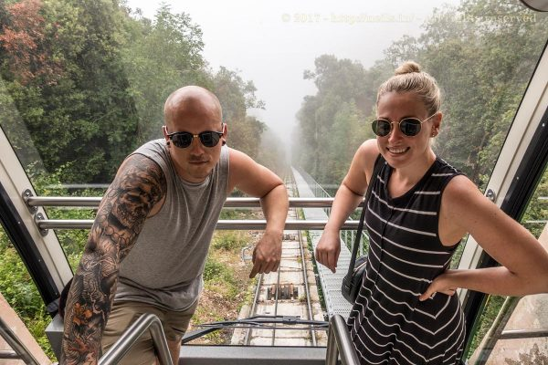 The Aussies on the Funicular